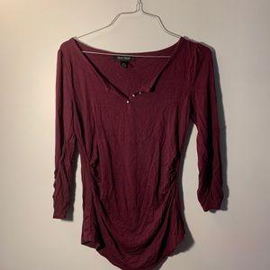 Maroon Dress shirt